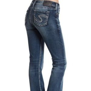 Silver Jeans Tuesday Vintage Wash Bootcut Mid Rise